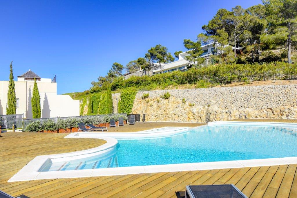 pool townhouse duplex rock llisa Ibiza
