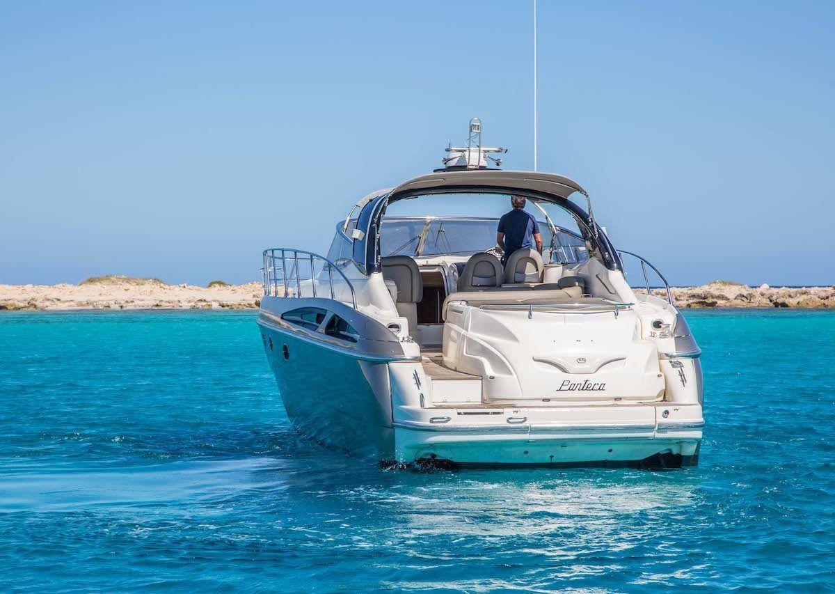 ibiza boat hire Sunseeker Cranchi 50