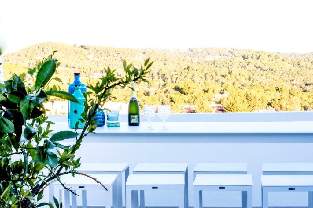 exterior townhouse duplex rock llisa Ibiza