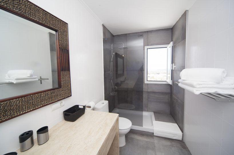 bathroom with shower of villa in ibiza